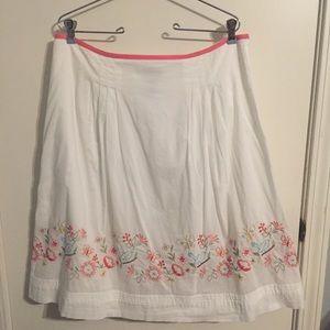 Rafaella White Cotton Skirt